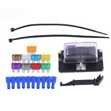 online get cheap 4 fuse block aliexpress com alibaba group 1 set 4 way circuit car fuse box kit dc 32v led indicator boat truck