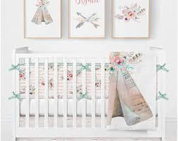 Dream Catcher Crib Bedding Set Boho baby bedding Etsy 97