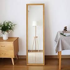 Full lenght mirror Large Image Unavailable Amazoncom Amazoncom Shangmeng Simple Wood Floor Mirror Floor Fulllength