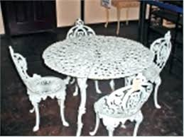 white cast iron patio furniture. Simple Cast Cast Iron Patio Table White Furniture Brilliant  Bistro Set Intended For   In White Cast Iron Patio Furniture O