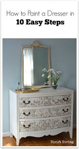 how to paint a dresser in 10 easy steps thrift diving blog
