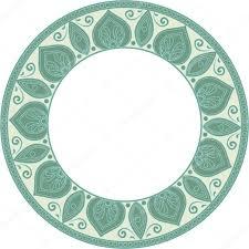 round green frame stock vector