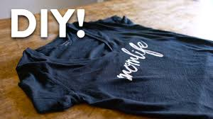 printing text diy custom t shirt printing tutorial made easy youtube