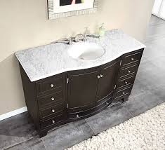 white bathroom vanities with marble tops. Silkroad 55 Inch Single Bathroom Vanity Carrara White Marble Top Vanities With Tops V