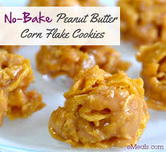 peanut butter balls with corn flakes. No Bake Peanut Butter Corn Flake Cookies For Balls With Flakes