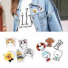 <b>Hot</b> Cute Cartoon 1pc Animal Brooches <b>Husky</b> Pet Acrylic Collar ...