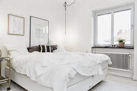 Simple White Bedroom Modern Swedish Bedroom Interior Ideas Offer Black And White Accent