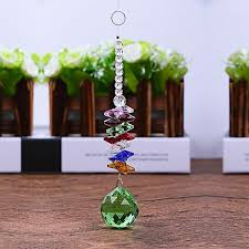 generic k9 artificial crystal ball prisms chandelier bead curtain decor color green