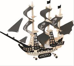 2019 diy kids 3d wooden puzzles pirate ships sailboats aircraft carriers model assembling kits iq educational toys children xmas gift from