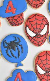 Spiderman Template Spider Man Cookies Templates Hanielas Recipes Cookie