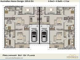 2900 sq foot 6 bedrooms duplex design