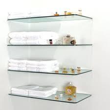 glass shelving for bathroom shelves 4 tier unit