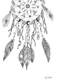 Free Coloring Page Coloring Cathym20 Dreamcatcher Exclusive Coloriage Attrape Reve Page L