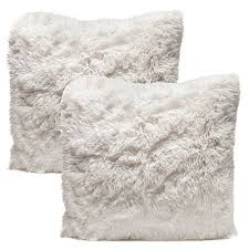 soft throw pillows. Contemporary Throw Chanasya Super Soft Shaggy Chic Fuzzy Faux Fur Elegant Cozy White Throw  Pillow Cover Sham  Solid Pillowcase 18x18 Inches  To Pillows 0