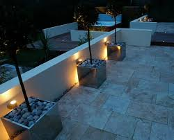 outdoor terrace lighting. Pale Flag Stone Pathway To Hot Tub With Dramatic Garden Lighting Outdoor Terrace I