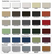 300 500 metal roof colors chart