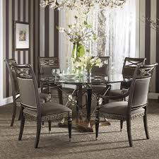 beautiful round dining table and chairs for 6 with glass gallery