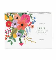 Appointment Calander 2019 Garden Party Appointment Wall Calendar By Rifle Paper Co