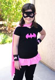 diy batgirl costume from a kid s shirt and shirt