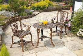 Small Outdoor Table Set Small Metal Garden Table And 2 Chairs Outdoor Metal Chairs On