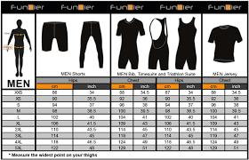 Cycling Jersey Size Chart Funkier Mens Cycling Clothing Size Chart Mr Cycling World