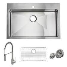 lowes drop in sink.  Drop Giagni Trattoria 33in X 22in Stainless Steel SingleBasin Drop In Lowes Drop Sink W