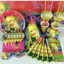 <b>Omilut</b> Elf Tinkerbell Decor Tinkerbell 1th <b>Birthday Party</b> Disposable ...
