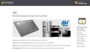the abt electronics credit card is issued by synchrony bank syncb this card is provided through a partnership between abt electronics and sony