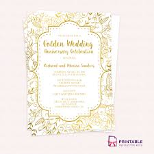 Formal Invitation Template Inspirational Free Pdf Template Golden ...