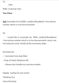 How To Write A Perfect Letter For Disconnection Of Bsnl Landline