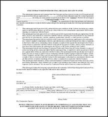 Free Subcontractor Lien Waiver Form Waiver Of Lien Template Template 2 Resume Examples Ze12knwkjx
