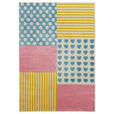 whimsical cream yellow 4 ft x 6 ft indoor area rug
