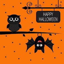 Happy Halloween Card. Bat Hanging On Tree. Wrought <b>Iron</b> Sign ...