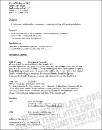 Sample Resume For Counselor Sarahepps Com