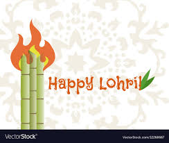 Happy lohri banner Royalty Free Vector ...