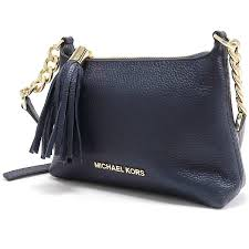 clearance michael kors bedford leather cross bag navy blue 35h6gc3t b3a17 486df