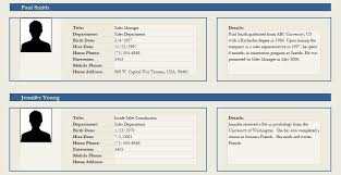 employee profile format professional employee profile template excel and word