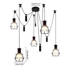 metal pendant lighting fixtures. 5 Light Vintage Hanging Island Pendant Fixture, Industry Style Metal Finish, Kiven Lighting - Online Shopping Fixtures