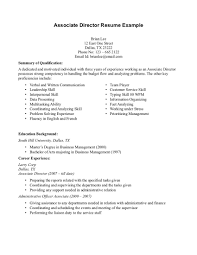 sample resume experience as senior director in communication full size of resume sample objective in job resume for associate director resume example