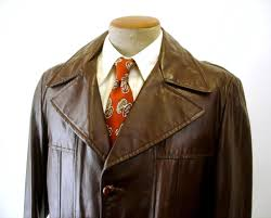 1970s mens brown leather jacket vintage 3 on long car coat with removable