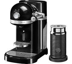 nespresso by kitchenaid artisan 5kes0504bob coffee machine with aeroccino 3 onyx black