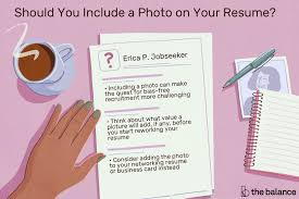 attach resumes including a photo on your resume