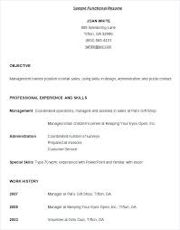 Functional Resume Administrative Assistant Samples Of Functional