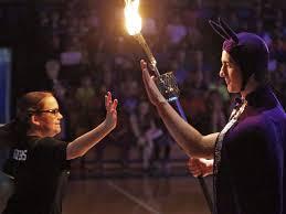 herald news baldwin student vs staff basketball game