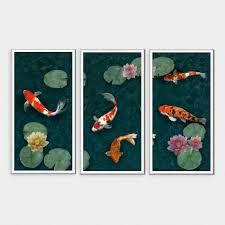 koi pond wall art canvas wall art set