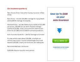 Car Insurance Quotes Nj Stunning Car Insurance Quotes Nj