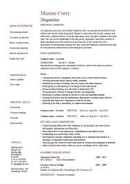 Dispatcher Resume Samples Dispatcher Resume Driver Templates Job Description