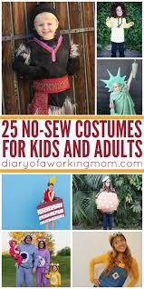 25 diy no sew costumes for kids and s