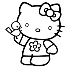 Free Coloring Pages Hello Kitty Printable Valentine Princess ...