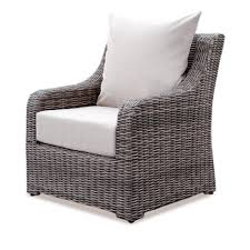 ae outdoor cherry hill wicker outdoor lounge chair with cast ash cushion